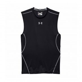 Ανδρική Μπλούζα - Under Armour Heatgear Sleeveless Tee - 1257469-001