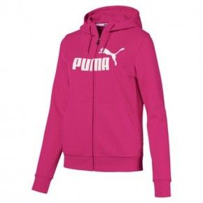 Γυναικεία Ζακέτα - Puma Womens Essential Logo Cotton Full-Zip Training Hoodie - 851811-50