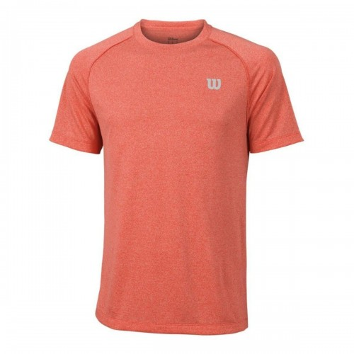 Ανδρική Μπλούζα - Wilson Core Crew Men's Tennis T-Shirt Hot Coral - WRA746403