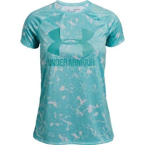 Under Armour Girls' Big Logo Novelty T-Shirt - 1331671-361