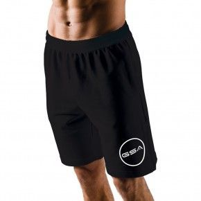Ανδρική Βερμούδα - GSA Shorts 4/4 Men Superlogo Color Edition Μαύρο - 1719060