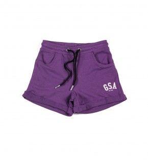 Παιδική Βερμούδα - GSA Basic Shorts Μωβ - 88-3716