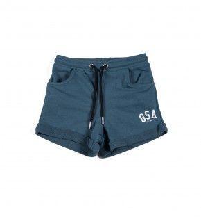 Παιδική Βερμούδα - GSA Basic Shorts Πετρόλ - 88-3716