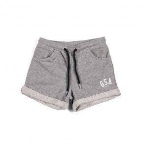 Παιδική Βερμούδα - GSA Basic Shorts Γκρι - 88-3716