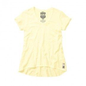 Γυναικεία Μπλούζα - GSA Glory & Heritage V-neck tee Κίτρινο - 3728007