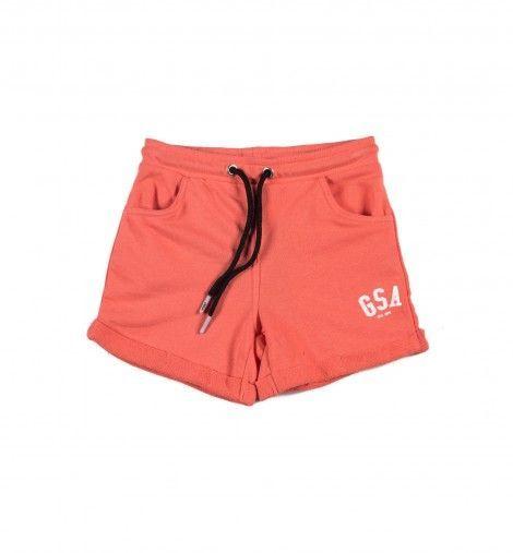Παιδική Βερμούδα - GSA Basic Shorts Κοραλί - 88-3716