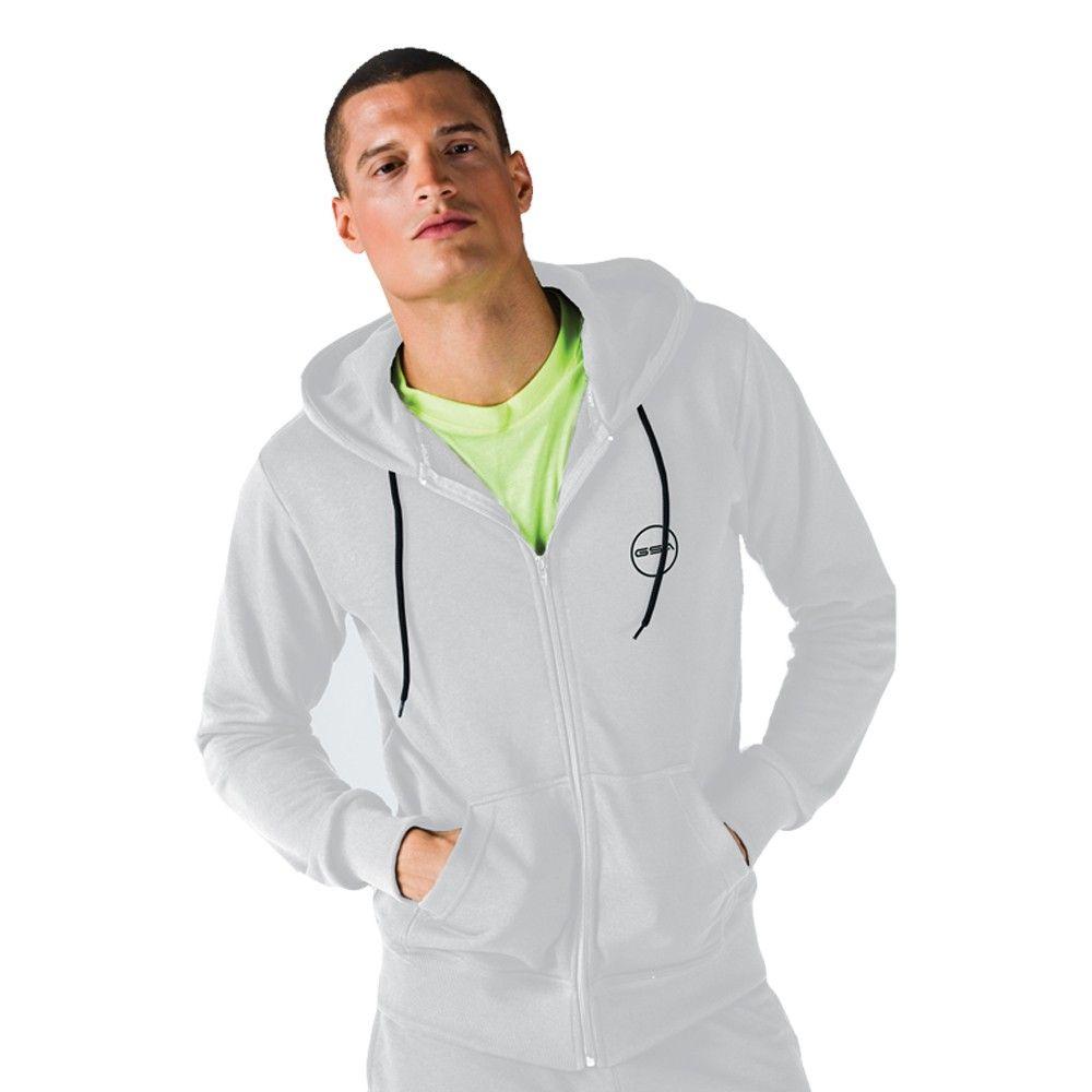 Ανδρική Ζακέτα - GSA Hoodie Men Tempo Zipper Λευκό - 1718043