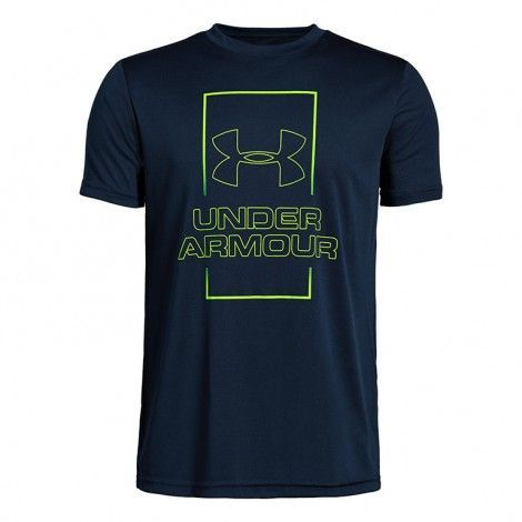 Under Armour Boys Vertical Box Short Sleeve T-Shirt - 1330896-408