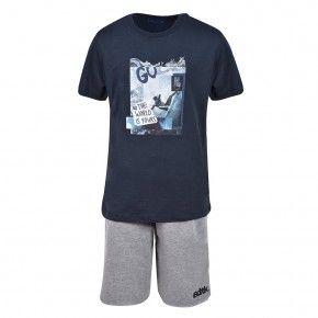 Παιδικό Σετ - BodyTalk Σετ t-shirt με βερμούδα για αγόρια - 1191-751199-00423