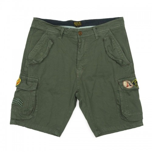 Ανδρική Βερμούδα - Devergo Ferfi Shorts Λαδί - 1D911004MP6106