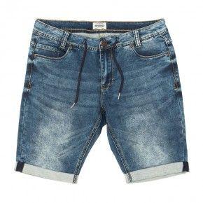 Ανδρική Βερμούδα - Devergo Ferfi Jog Jeans Sort - 1D911131MP7164