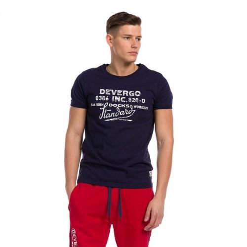 Ανδρική Μπλούζα - Devergo Jersey T-Shirt Μπλε Σκούρο- 1D914064SS0105