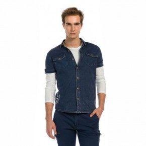 Ανδρικό Πουκάμισο - Devergo Blue Shirt - 1D915008SS0124