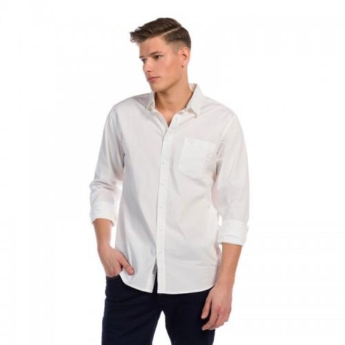 Ανδρικό Πουκάμισο - Devergo Slim Fit Shirt Λευκό - 1D915009LS1301