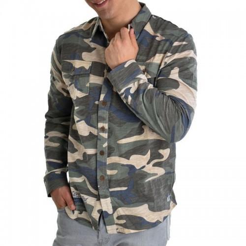 Ανδρικό Πουκάμισο - Devergo Camouflage Shirt - 1D815014LS3825