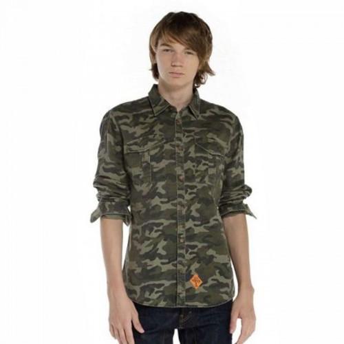 Ανδρικό Πουκάμισο - Devergo Camouflage Shirt - 1D825006LS0170
