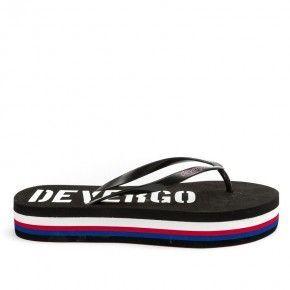 Γυναικείες Παντόφλες - Devergo Slippers Carin Μαύρο Λευκό - DE-RF2506EV