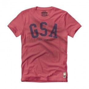 Ανδρική Μπλούζα - GSA Mens T-shirt Graphic Tee Glory Κόκκινο - 3718004