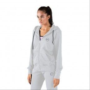 Γυναικεία Ζακέτα - GSA Tempo Zipper Hoodie Λευκό - 1728030