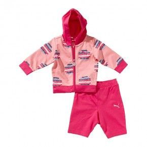 Βρεφικό Σετ - Puma Baby Allover Hooded Tracksuit - 822011-01