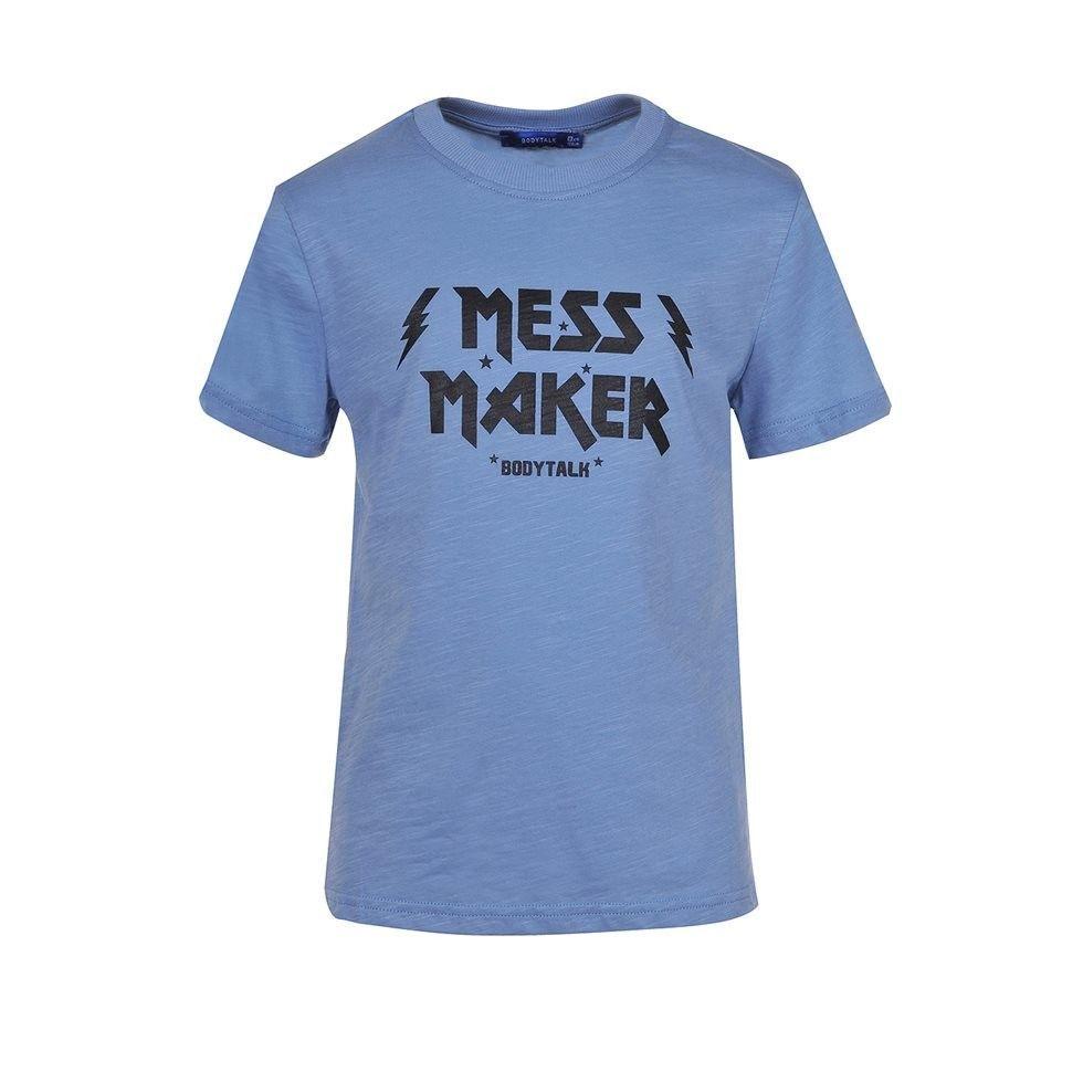 Παιδική Μπλούζα - BodyTalk μπλούζα κοντομάνικη `mess maker`- 1191-751328-00427