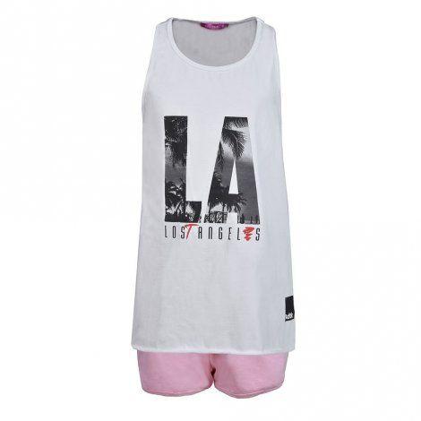 Παιδικό Σετ - BodyTalk Σετ με αμάνικο tank top και shorts για κορίτσια - 1191-704199-00200