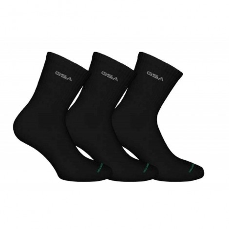 Ανδρικές Κάλτσες - GSA 360 Supercotton Socks Πακέτο των 3 Μαύρο - 818303-01
