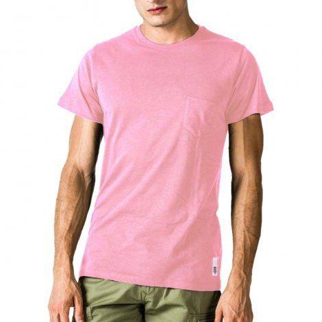 Ανδρική Μπλούζα - GSA Mens T-shirt Classic with Pocket Ροζ - 3719002
