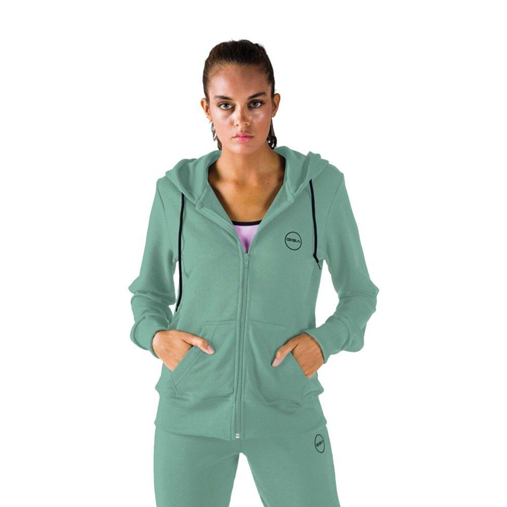 Γυναικεία Ζακέτα - GSA Tempo Zipper Hoodie Βεραμάν - 1728030