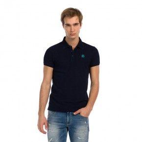 Ανδρική Μπλούζα - Devergo Polo Shirt Μπλε Σκούρο - 1D914039SS2425