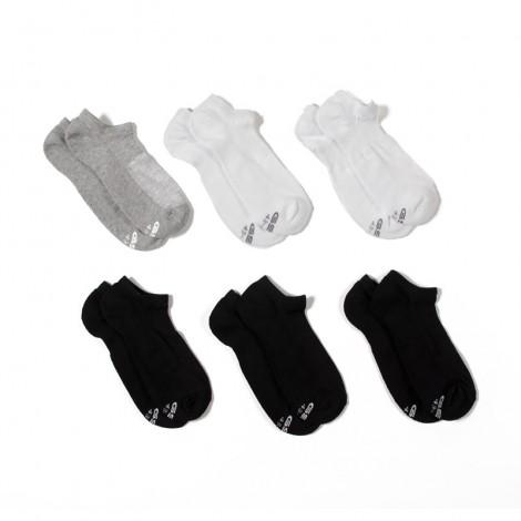 Ανδρικές Κάλτσες - GSA Πακέτο των 6 Μαύρο-Λευκό-Γκρι - 81-18001