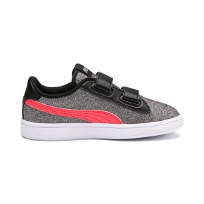 Παιδικά Παπούτσια - Puma Smash v2 Glitz Glam Kid Girls' Trainers - 367378-10