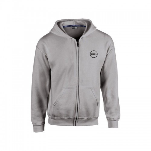 GSA Supercotton Zipper Hoodie - 17-38003 Grey M.