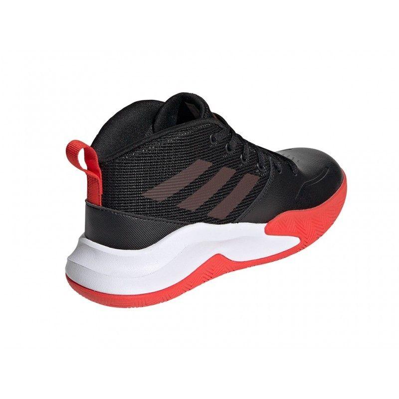 Adidas Ownthegame K Wide Cblack Actred Ftwwht - EF0309