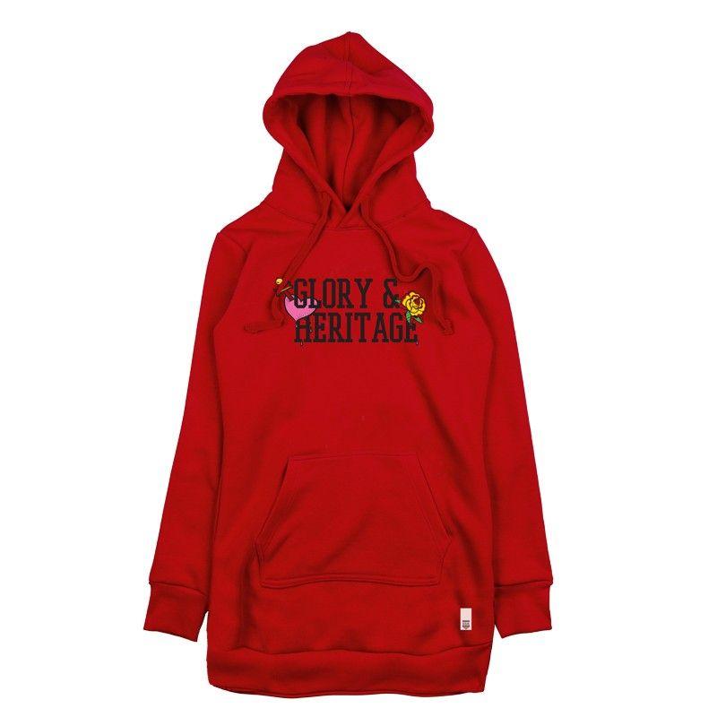 GSA WMN Long Fit Glory Hoodie - 37-29104 Red