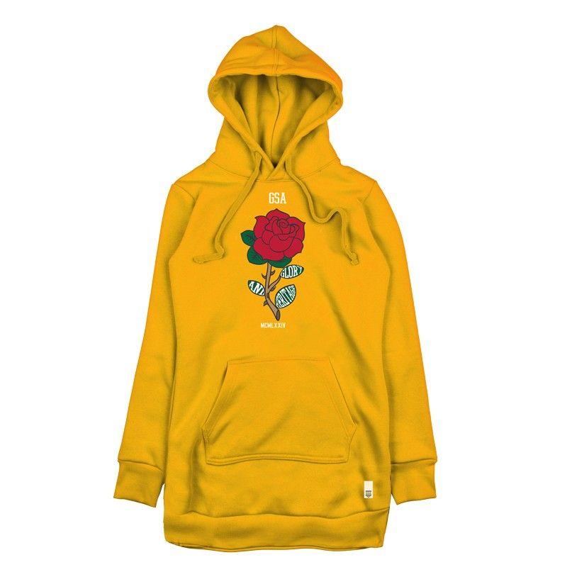 GSA WMN Long Fit Glory Hoodie - 37-29104 Yellow