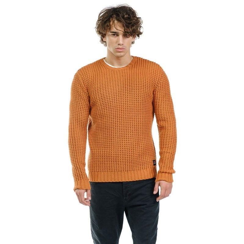 Devergo Blue Men's Knitted Jumper - 1D926010LS0100-5