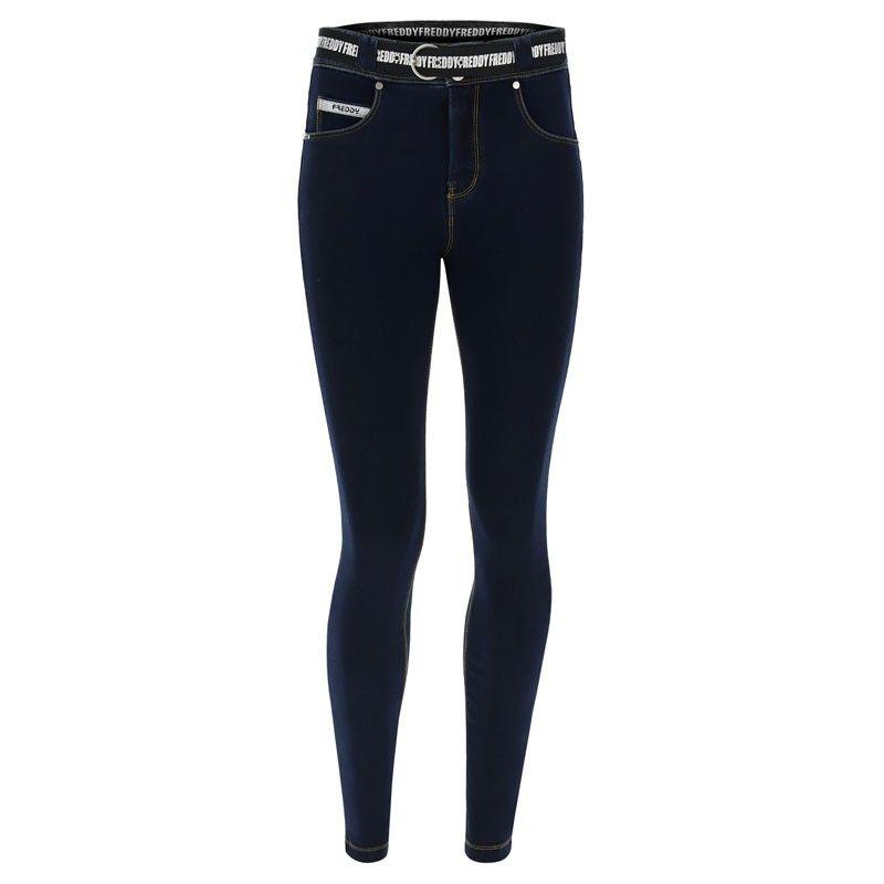 Freddy N.O.W.® Pants Denim-effect slim fit tapered leg trousers - NOW1MC002-J0Y