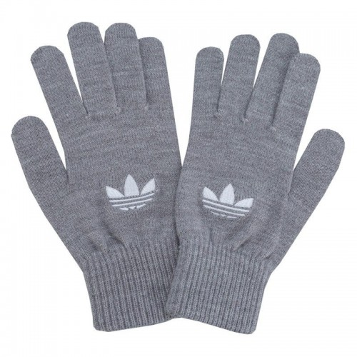 Adidas Originals Trefoil Gloves In Grey - AY9339