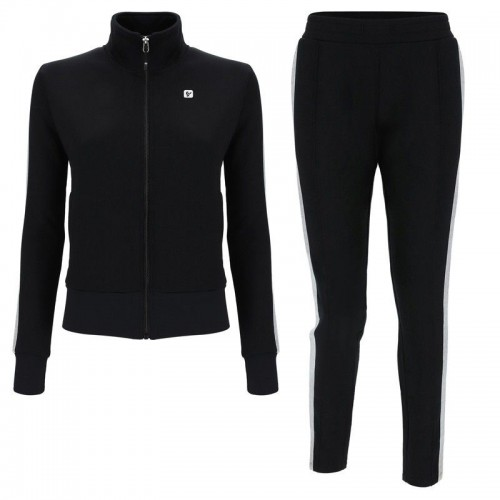 Freddy Black fleece tracksuit with lurex side bands - F9WTRK4-N
