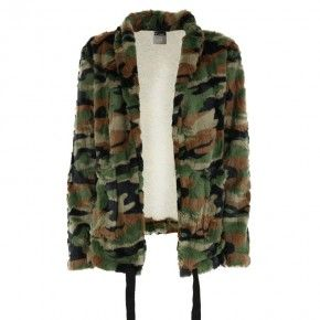 Freddy Jacket in camouflage faux fur - F8WMLJ1