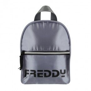 Freddy Metallic nylon mini backpack with a Freddy logo - NYPACKMINIMT-GUN0