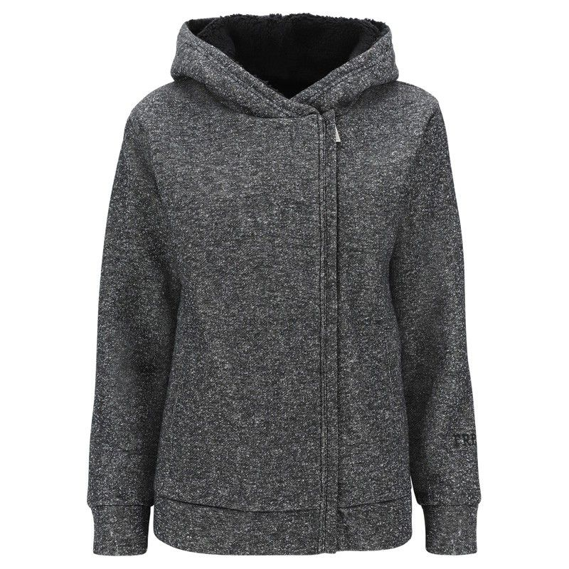 Freddy Jacket made from lurex fleece with hood and side zip - F9WTRS6-NL3