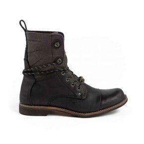 Devergo Men's Leather Brogue Boots Black - DE-GM1001LE 17FW