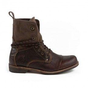 Devergo Men's Leather Brogue Boots Brown - DE-GM1001LE 17FW