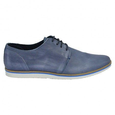 Devergo Men's Blue Leather Shoes - DE-CX7006LE