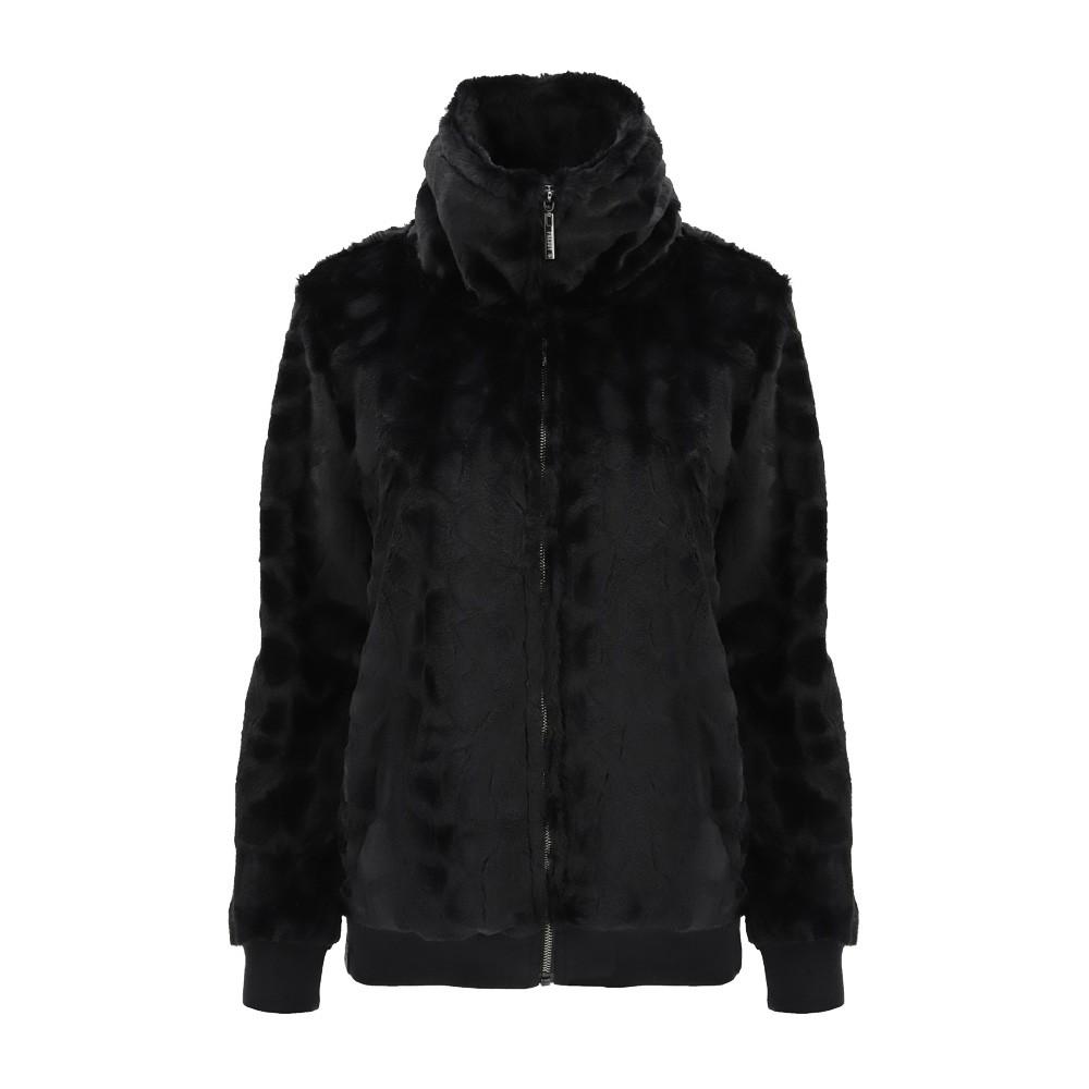 Freddy High-neck faux fur jacket with a zip - F0WALJ1-N