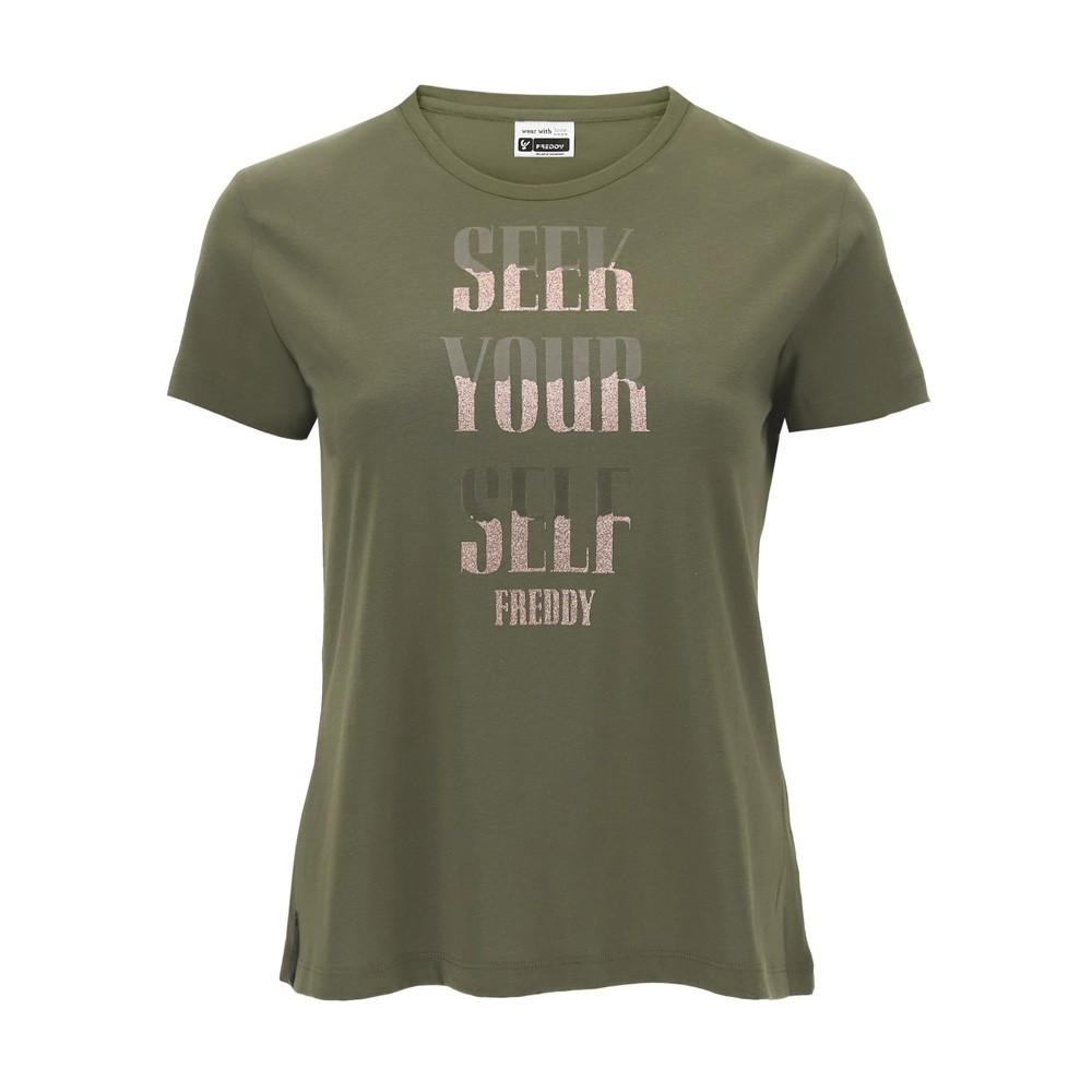 Freddy T-shirt with a glitter SEEK FOR YOURSELF print - F0WSLT6-V112