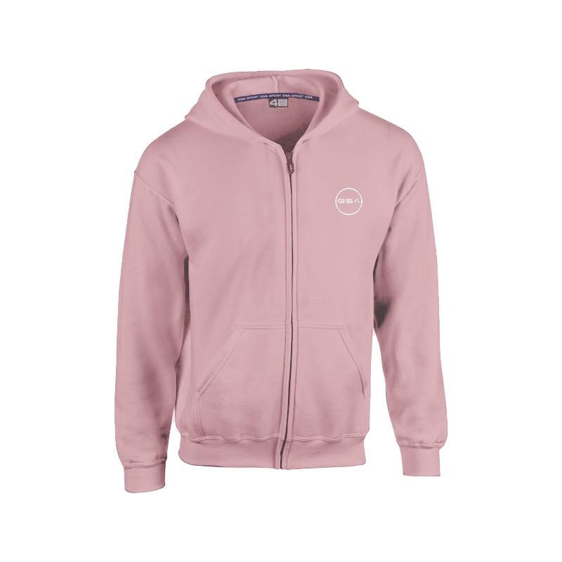 GSA Supercotton Zipper Hoodie - 17-38007 Pink