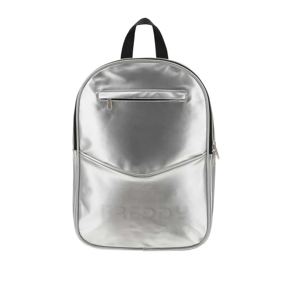 Freddy Metallic faux leather backpack - PUPACKSG-S